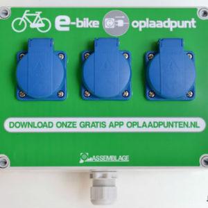 kunststof e-bike oplaadpunt